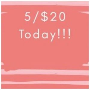 Other - 5 for $20 on all items priced $20 or less